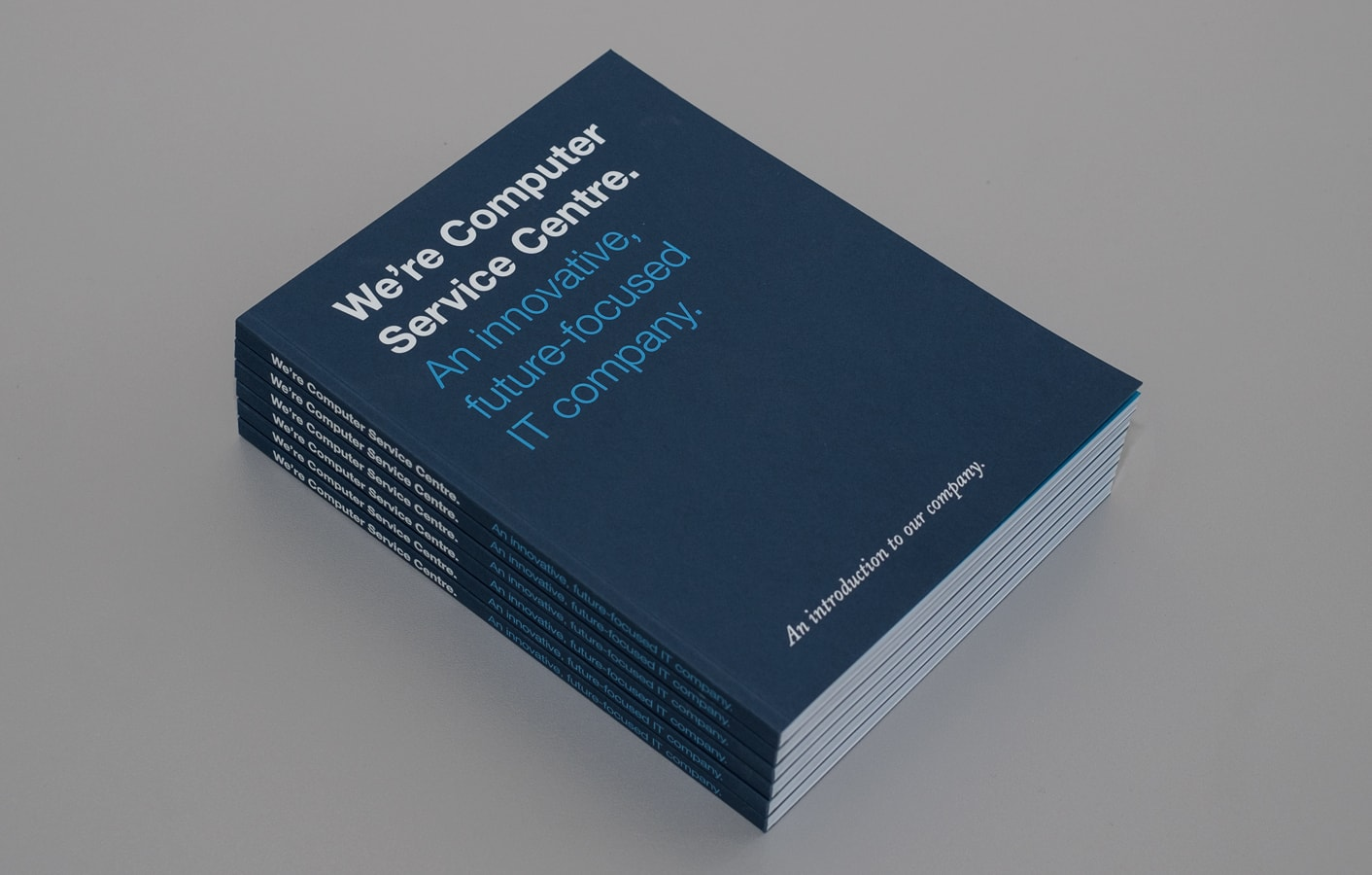 Book design for Computer Service Centre.