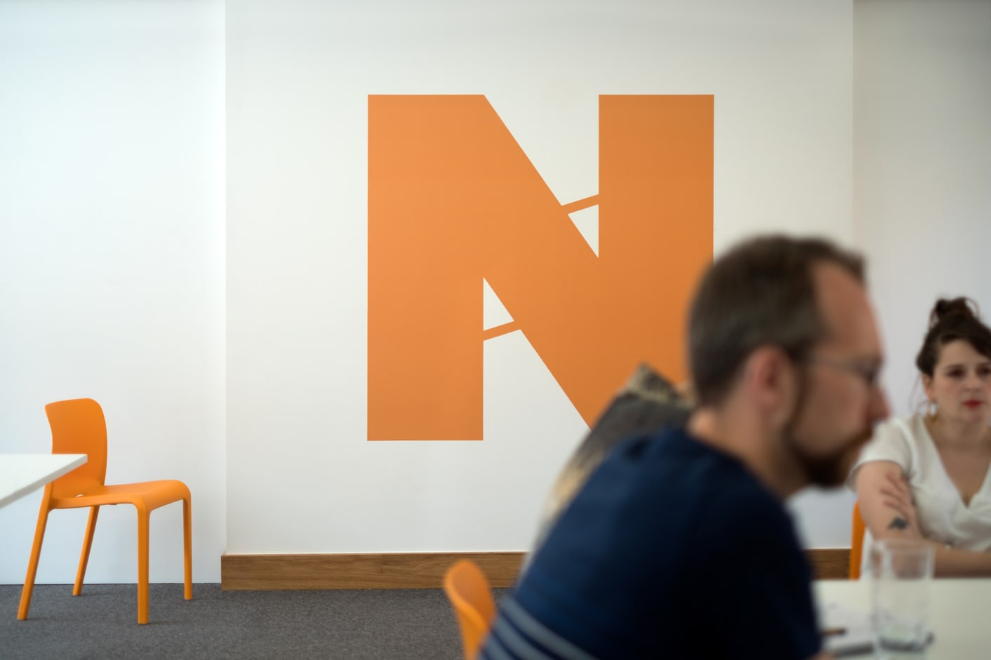 National Centre for Writing branded interior graphics