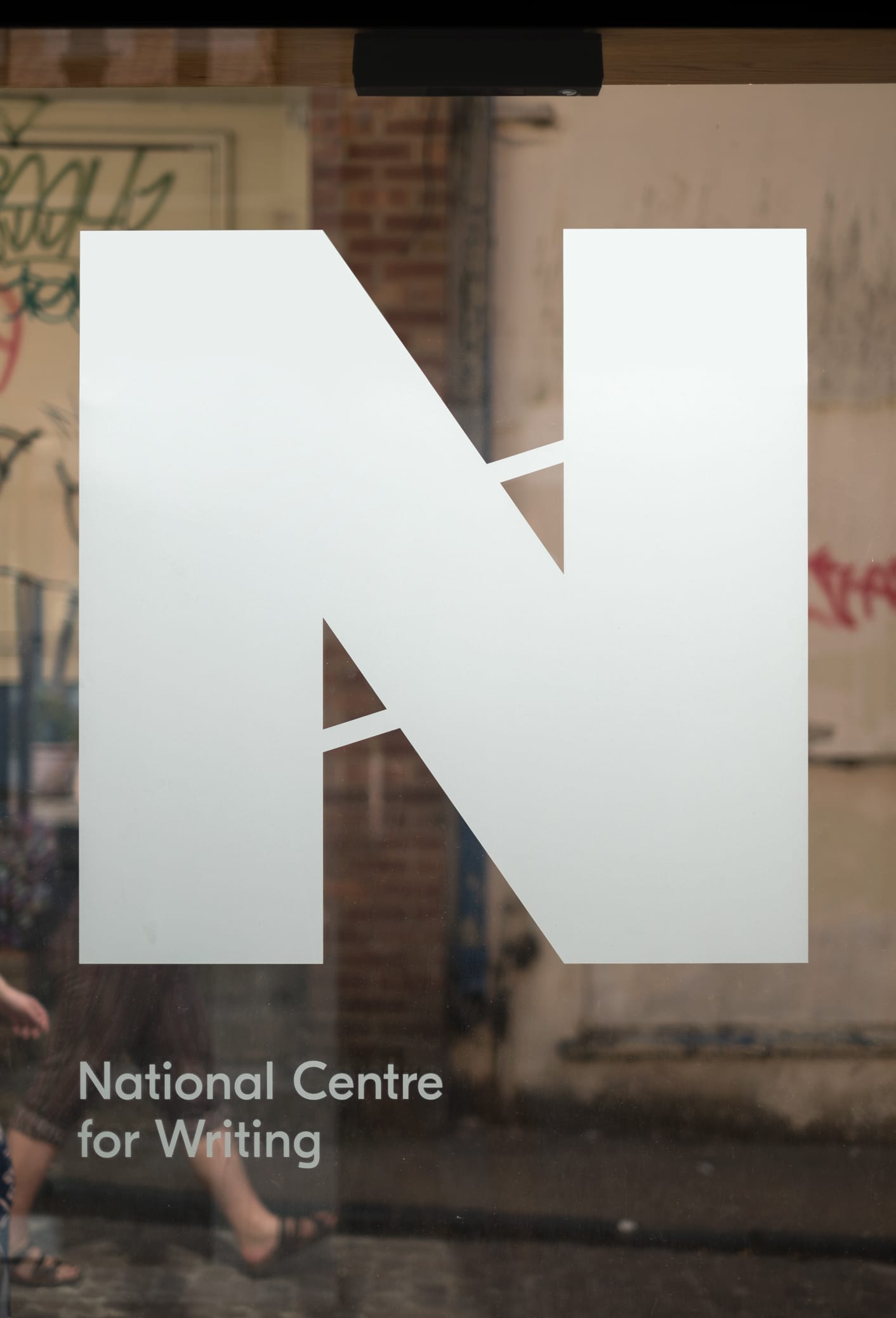 National Centre for Writing glass entrance door