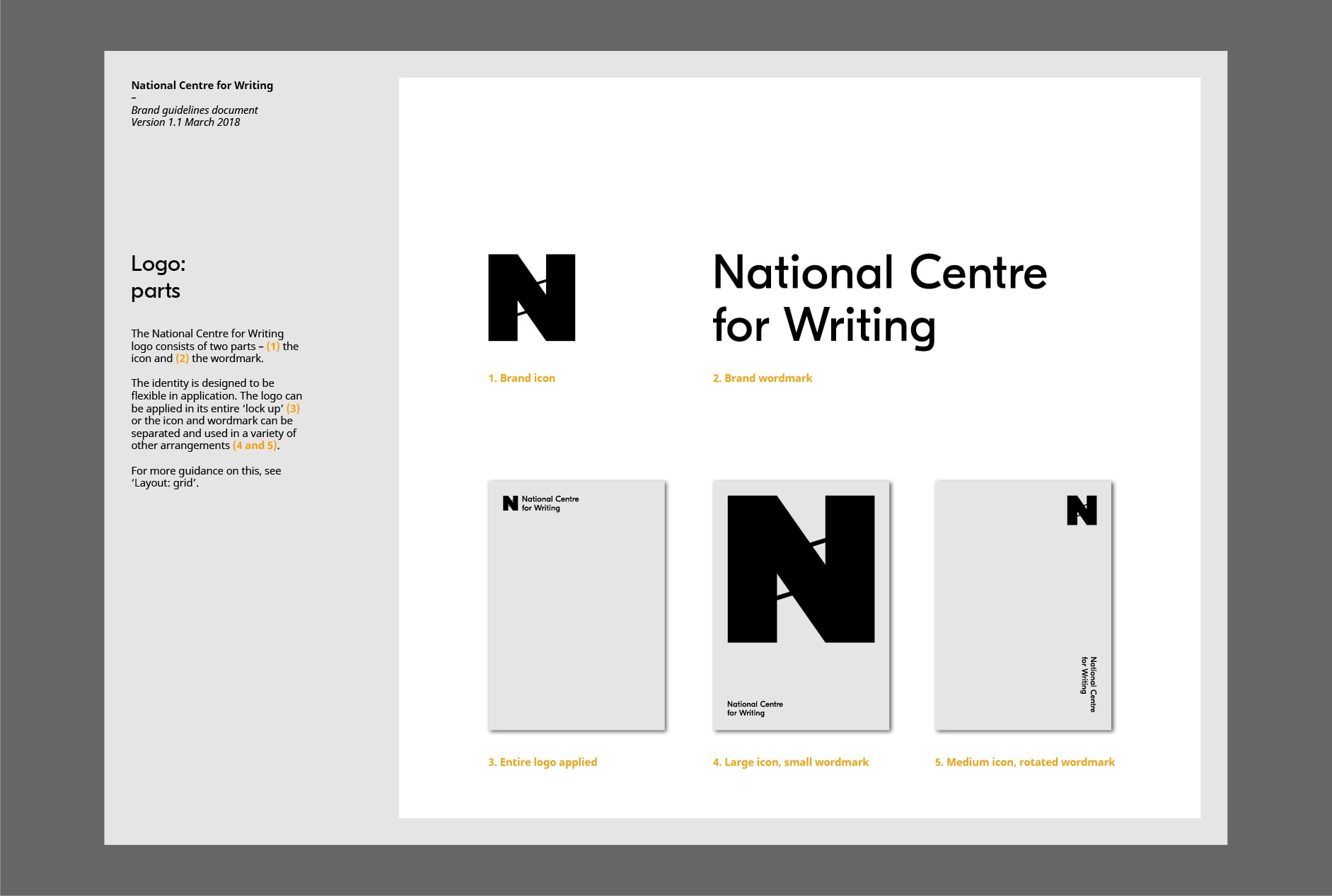 National Centre for Writing brand guidelines