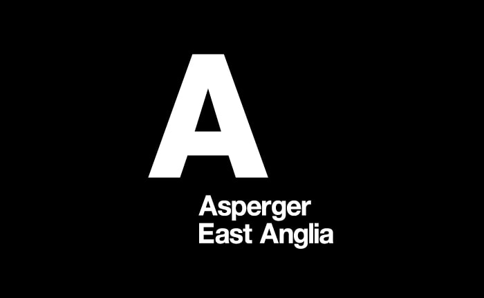 A brand identity for a charity dedicated to offering information and assistance to people living with Asperger syndrome called Asperger East Anglia.