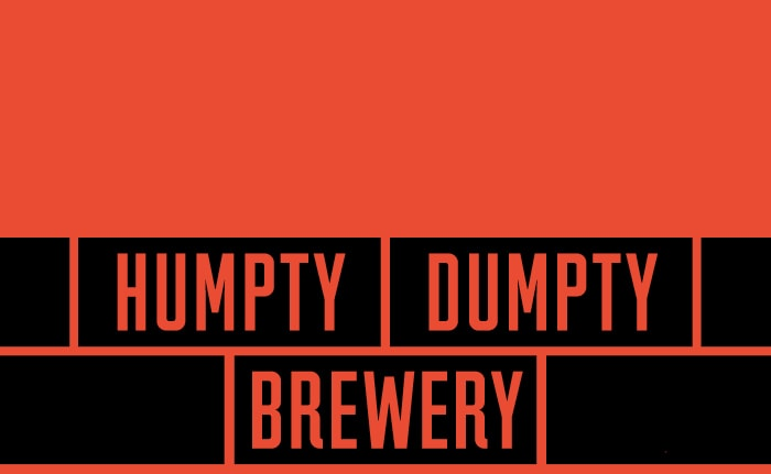 A brand identity for a microbrewery, creating award-winning cask and bottled real ales named Humpty Dumpty Brewery.