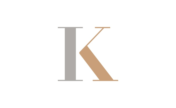 A monogram to be used on wedding stationery and matching tattoos for Ian and Katie.