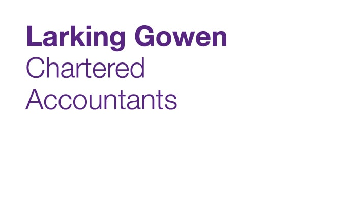 A brand identity for a chartered accountancy firm called Larking Gowen.