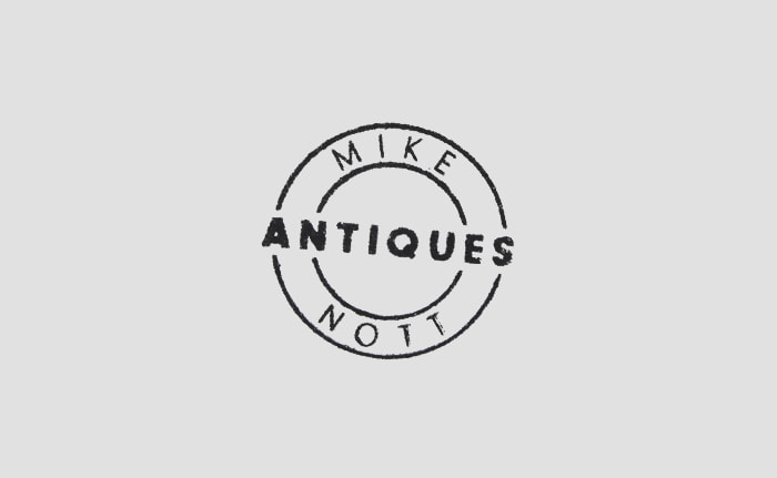 A brand identity for independent antique dealer, Mike Nott.