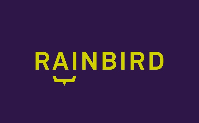 A brand identity for an artificial intelligence (AI) led technology company called Rainbird.