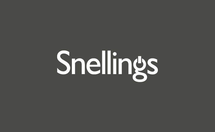 A brand identity for a retailer and supplier of audio visual technology, called Snellings.