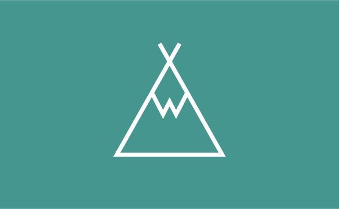 A brand identity for a traditional countryside campsite at the foot of the Wedlock Edge in Shropshire called Withies Campsite.