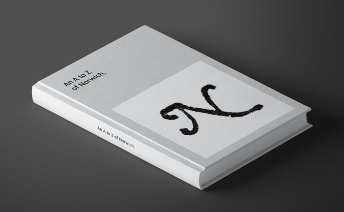 Book concept for An to Z of Norwich.