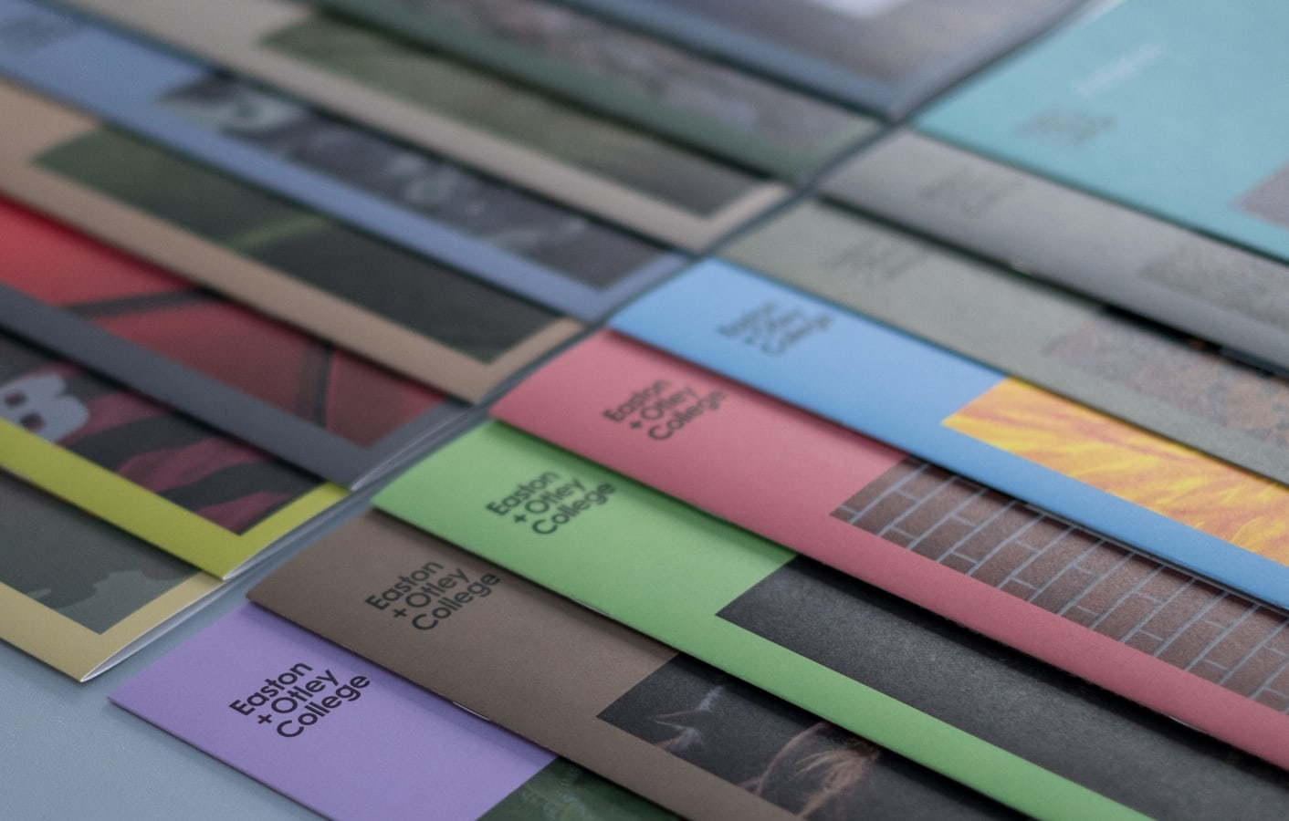 Subject Area brochures for Easton and Otley College.