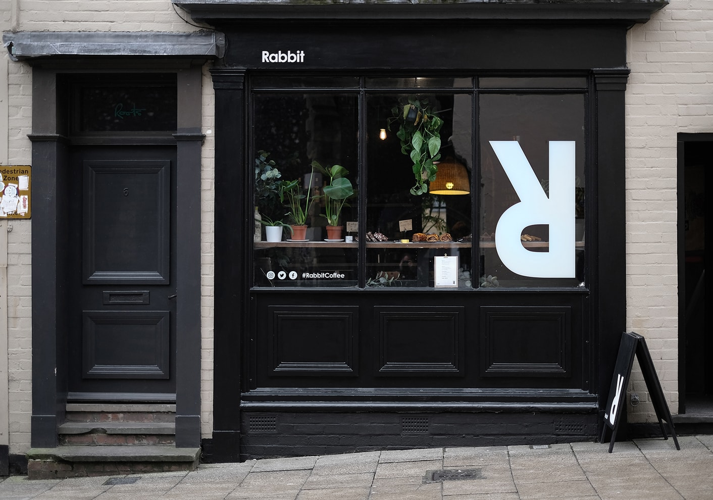 Rabbit Coffee branded shop front by The Click