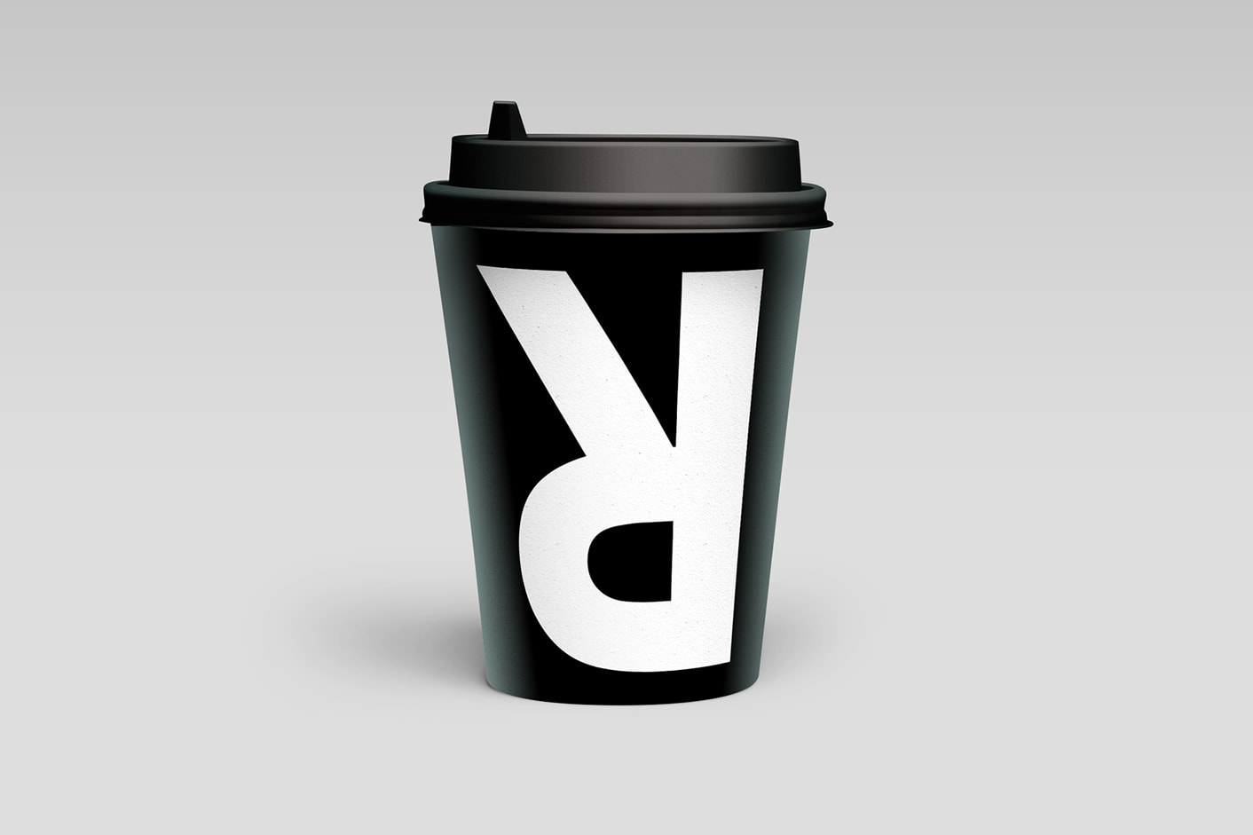 Rabbit Coffee brand logo on a coffee cup