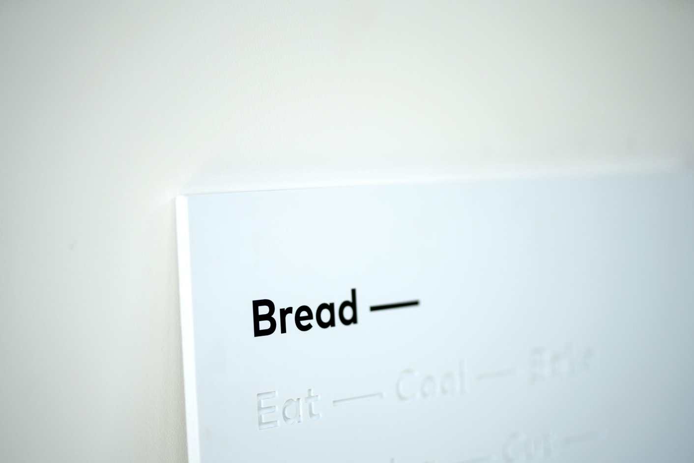 Bread Source interior signage