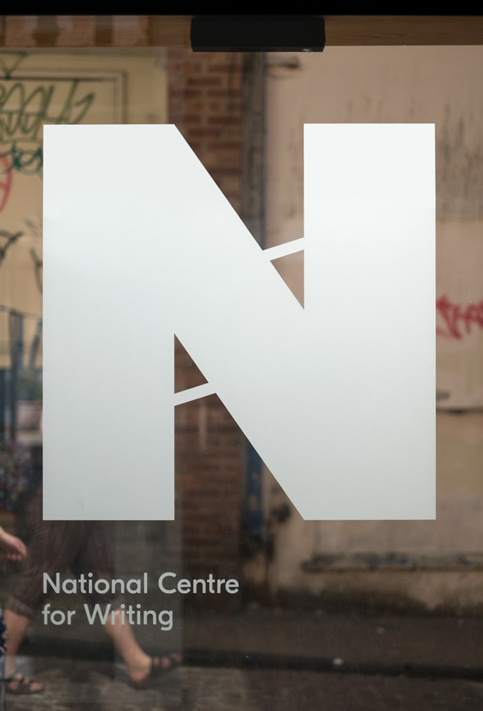 National Centre for Writing entrance signage