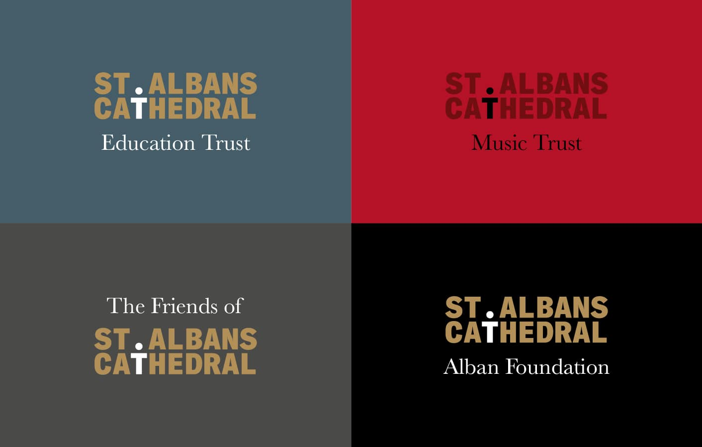 St Albans Cathedral sub branding