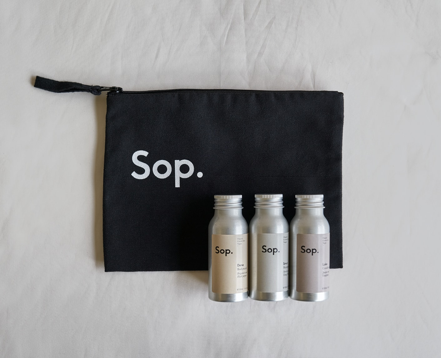 Sop Travel bag and 50ml bottles
