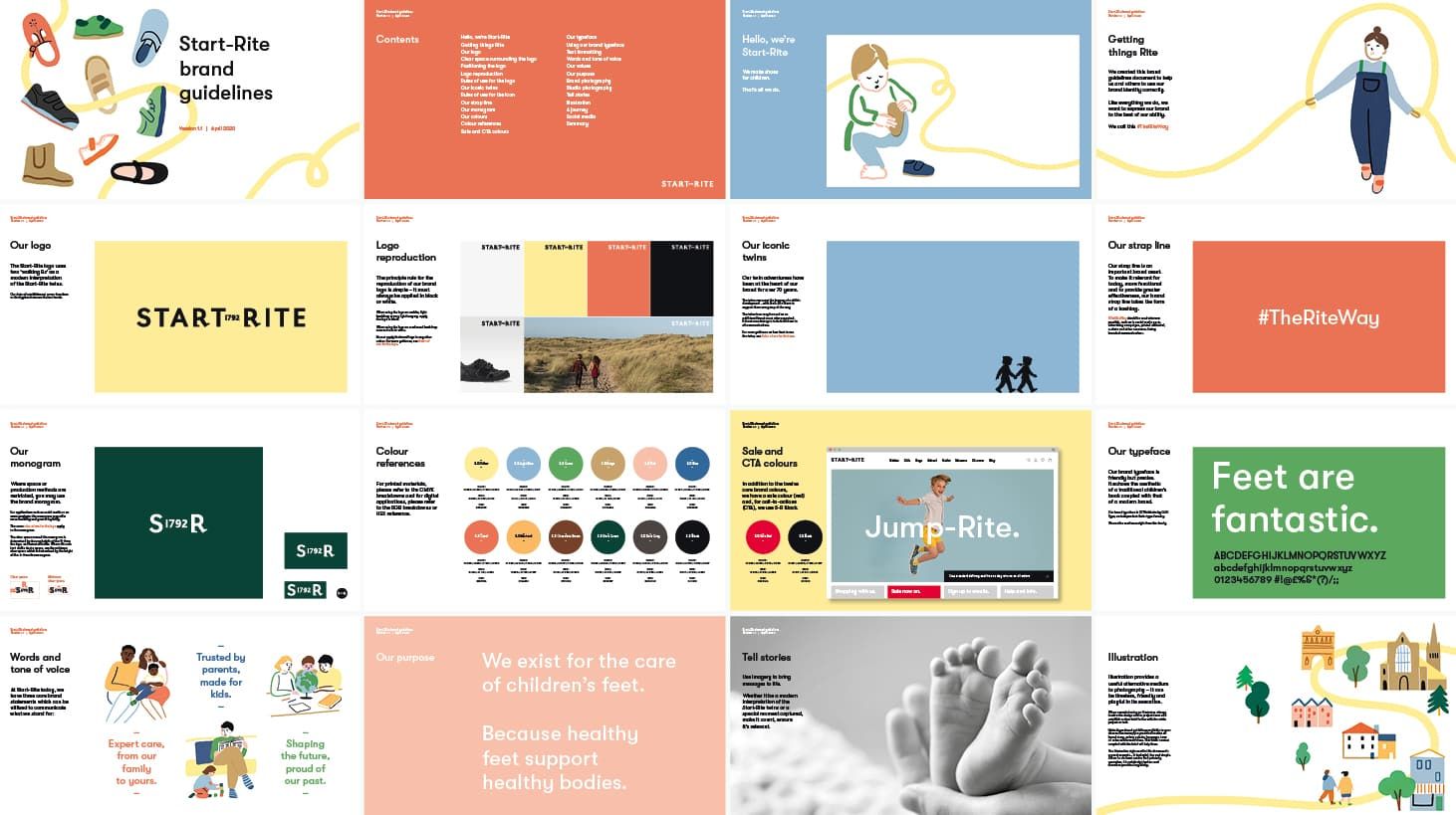Start-Rite brand guidelines pages