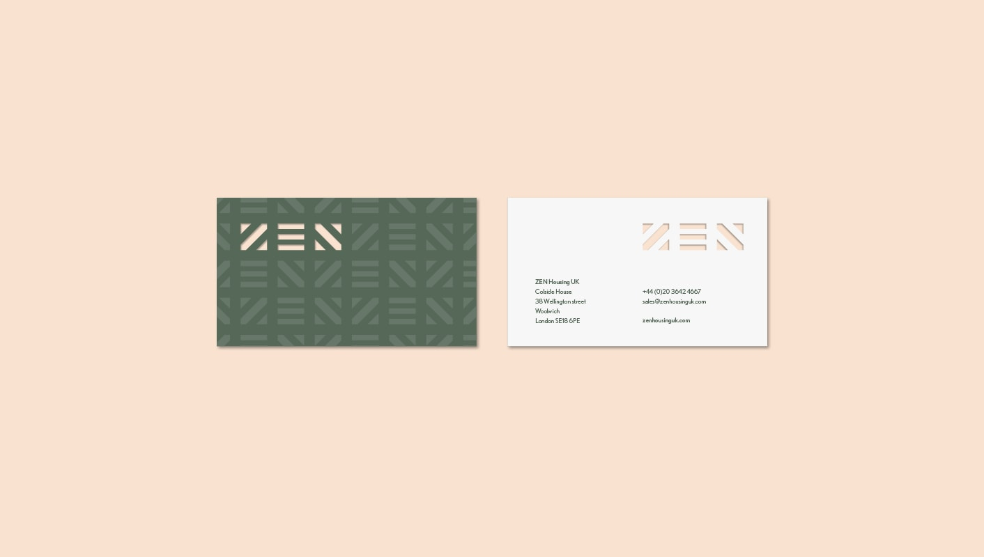 Zen Housing business card