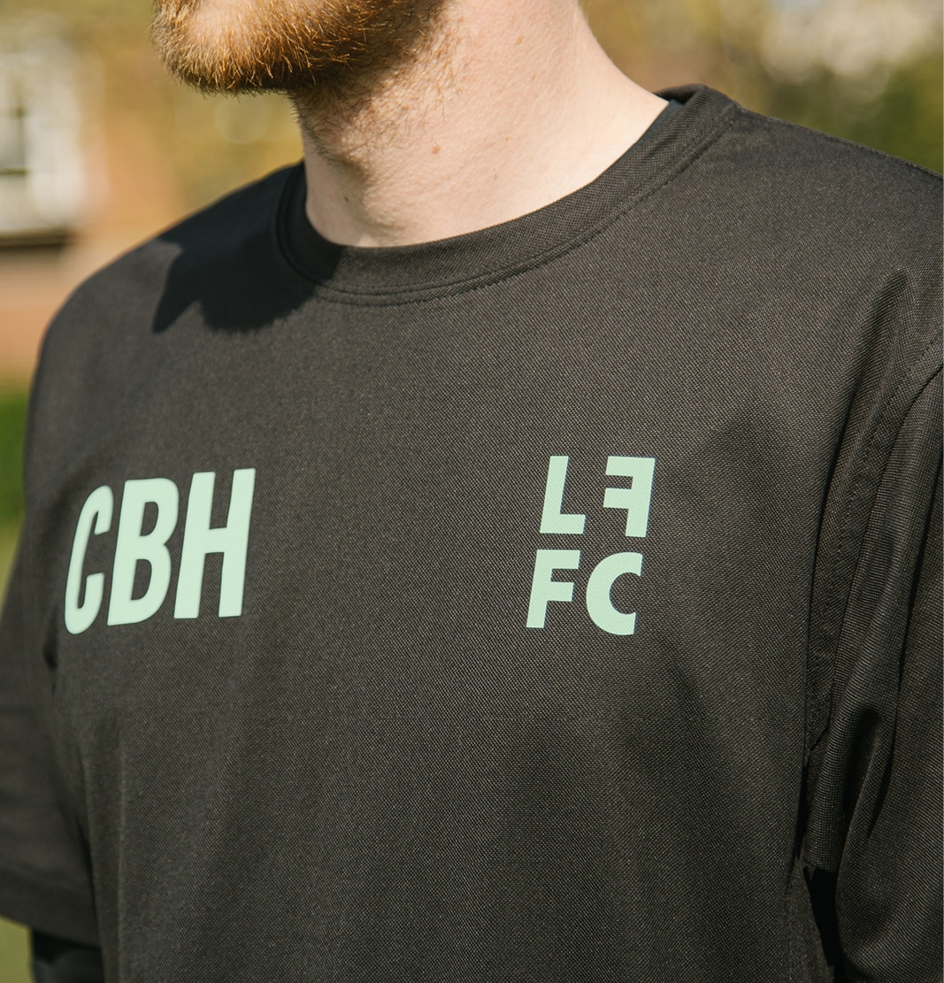 Left Field Football Collective brand identity by The Click and photography by Ryan Mason